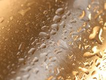 Acero mojado foto de archivo
