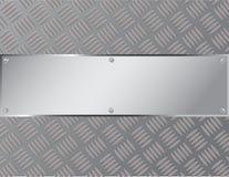 Acero o metal de hoja del fondo con un modelo de zigzag Imagen de archivo
