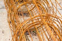 Acero oxidado de la malla de alambre para la construcción Foto de archivo libre de regalías