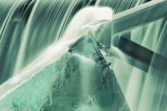 Acero en agua Imágenes de archivo libres de regalías