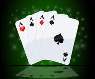 aces зеленый цвет предпосылки 4 иллюстрация вектора