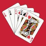 aces короля полной дома красные Стоковая Фотография