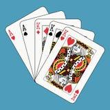 aces короля полной дома Стоковые Изображения