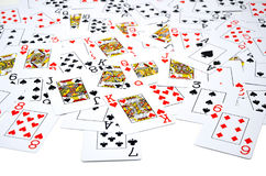 aces покер 2 карточек предпосылки черный Стоковое Изображение RF