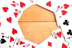 aces покер 2 карточек предпосылки черный Стоковые Фотографии RF