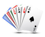 aces покер 2 карточек предпосылки черный Стоковые Фото