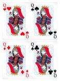 aces покер 2 карточек предпосылки черный иллюстрация штока