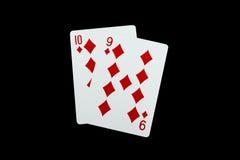 aces покер 2 карточек предпосылки черный Стоковое Изображение