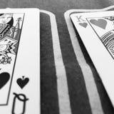 aces покер 2 карточек предпосылки черный Стоковые Изображения RF