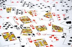 aces покер 2 карточек предпосылки черный Стоковая Фотография