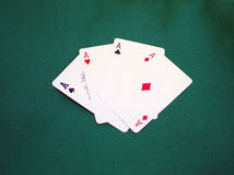 aces покер Стоковые Фото