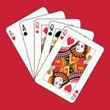aces ферзи полной дома красные Стоковые Фото