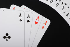 aces чернота 4 предпосылки Стоковое Изображение