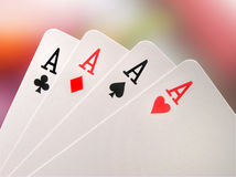 Aces. Four aces Stock Photos