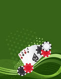 Aces. Gambling themed background, fun and lively Royalty Free Stock Images