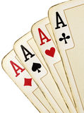 Aces. Four aces Royalty Free Stock Image