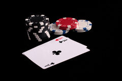 Free Aces And Chips Royalty Free Stock Photos - 4396688