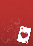Aces, background poker. Backround poker, aces of hearts on poker table Stock Photography