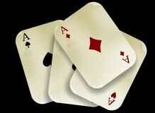 Aces cards Royalty Free Stock Images