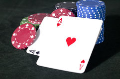 Aces and Chips Stock Photography