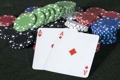 Aces and Chips Royalty Free Stock Image