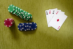 Aces and chips Stock Photo