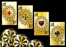 Aces and chips Stock Images