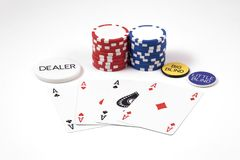 Free Aces & Chips Poker Game Stock Image - 1859741