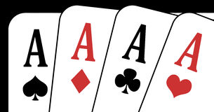 Aces closeup. Illustration of an aces closeup on a black background royalty free illustration