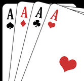 Aces closeup. Illustration of an aces closeup on a black background stock illustration