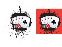 Aces and dice Stock Image
