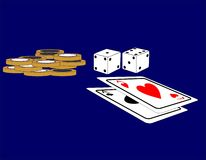 Aces and dice royalty free illustration