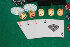 Aces and dice Royalty Free Stock Image