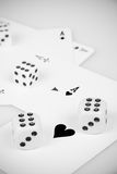 Aces With Dices Royalty Free Stock Photography