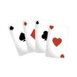 Aces el icono de las tarjetas del póker Imágenes de archivo libres de regalías