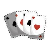 Aces el icono de las tarjetas del póker Imagen de archivo libre de regalías