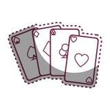 Aces el icono de las tarjetas del póker Imagenes de archivo