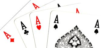 Aces el póker Fotos de archivo