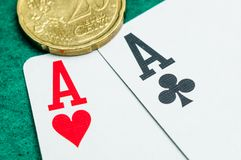 Aces and euros Stock Image
