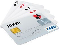 Aces flush Royalty Free Stock Photo