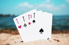 4 Aces royalty free stock photos