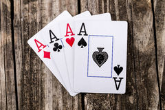 Aces - Four of a Kind Poker Stock Photography
