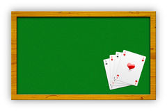 Aces on green Royalty Free Stock Photo