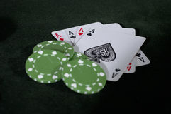 Aces and Greens Royalty Free Stock Image