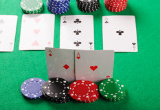 Aces in hand Royalty Free Stock Photo