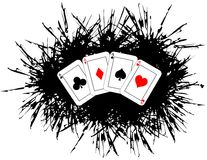 Aces on spot background isolated Royalty Free Stock Photo