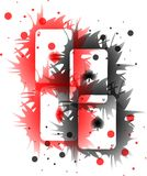 Cool Illustration with Aces in red and black Stock Images