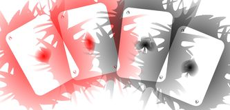 cool background with Aces in red and black Royalty Free Stock Image