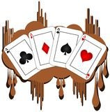 Aces on spot background isolated Stock Image