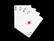 Aces isolated Royalty Free Stock Photos